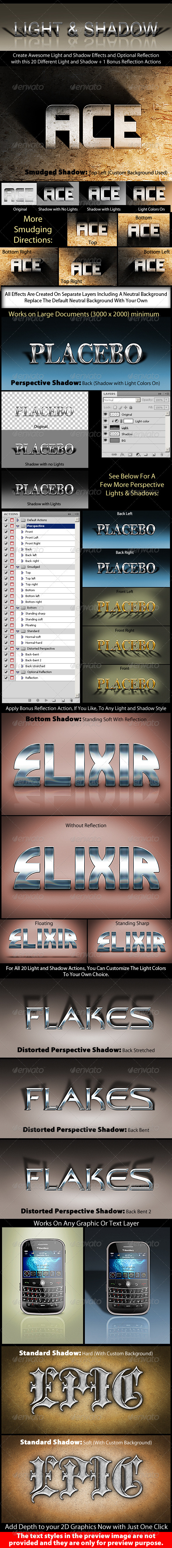 GraphicRiver Photoshop Text Effect Cinematic 3D Light & Shadow 820750