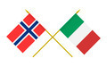Flags of Italy and Norway, 3d Render, Isolated - PhotoDune Item for Sale