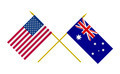 Flags of Australia and USA, 3d Render, Isolated on White - PhotoDune Item for Sale
