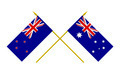 Flags of Australia and New Zealand, 3d Render, Isolated on White - PhotoDune Item for Sale