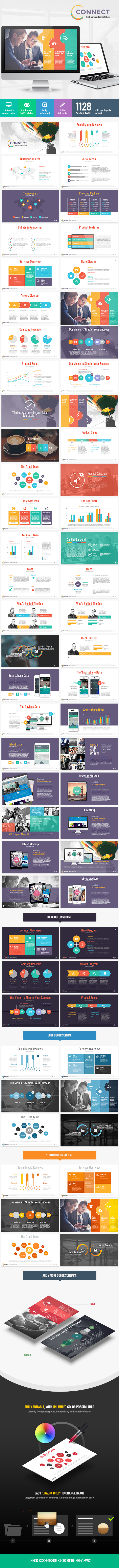 GraphicRiver Connect Modern Powerpoint Template 8957333