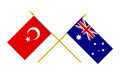 Flags of Australia and Turkey, 3d Render, Isolated on White - PhotoDune Item for Sale