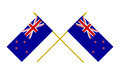 Two Crossed Flags of New Zealand, 3d Render, Isolated on White - PhotoDune Item for Sale