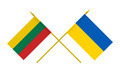 Flags of Lithuania and Ukraine, 3d Render, Isolated - PhotoDune Item for Sale