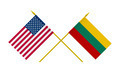 Flags of Lithuania and USA, 3d Render, Isolated - PhotoDune Item for Sale