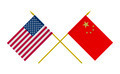 Flags of China and USA, 3d Render, Isolated - PhotoDune Item for Sale