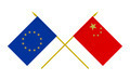 Flags of China and European Union, 3d Render, Isolated on White - PhotoDune Item for Sale