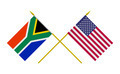 Flags of South Africa and USA, 3d Render, Isolated - PhotoDune Item for Sale