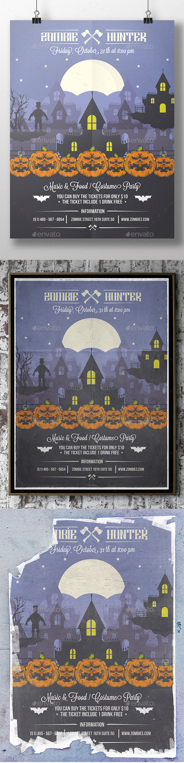 GraphicRiver Halloween Party Poster Flyer 8957508