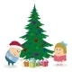 Children and Christmas Fir Tree - GraphicRiver Item for Sale