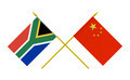 Flags of China and South Africa, 3d Render, Isolated - PhotoDune Item for Sale