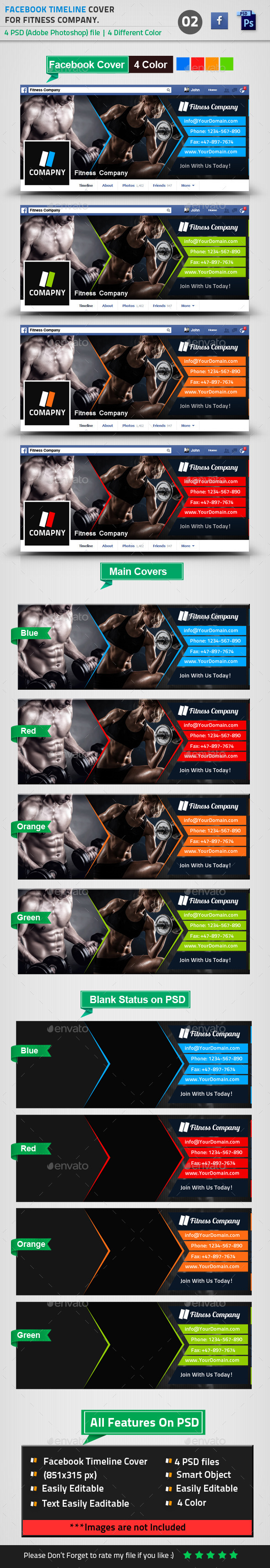Fitness Facebook Timeline Cover 02