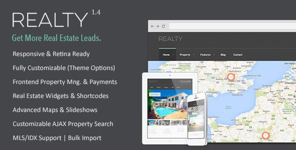 Realty - Responsive Real Estate WordPress Theme - Real Estate WordPress
