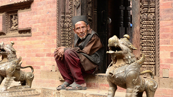 Old Monk in Tibet