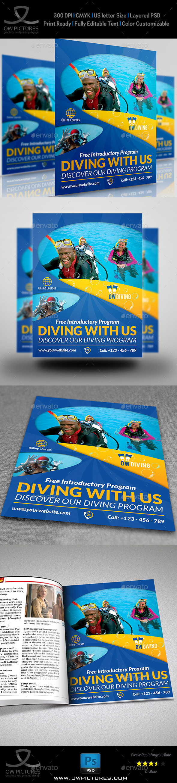 GraphicRiver Diving Flyer Template Vol.2 8958424