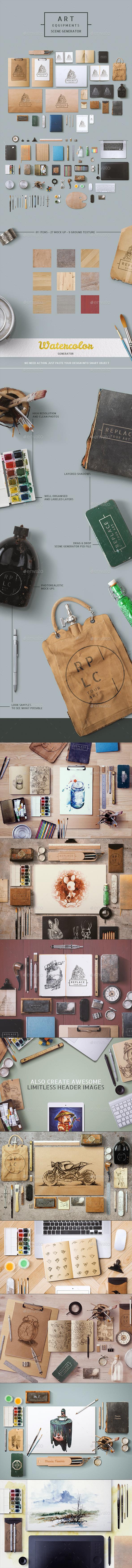 GraphicRiver Art Equipments Scene Generator 8952564