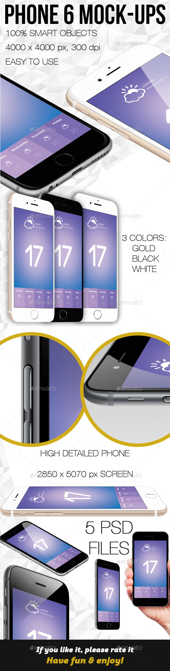 GraphicRiver Phone 6 Mock-ups 8946431