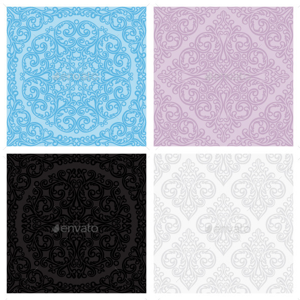 GraphicRiver Set of vintage seamless patterns 8952423
