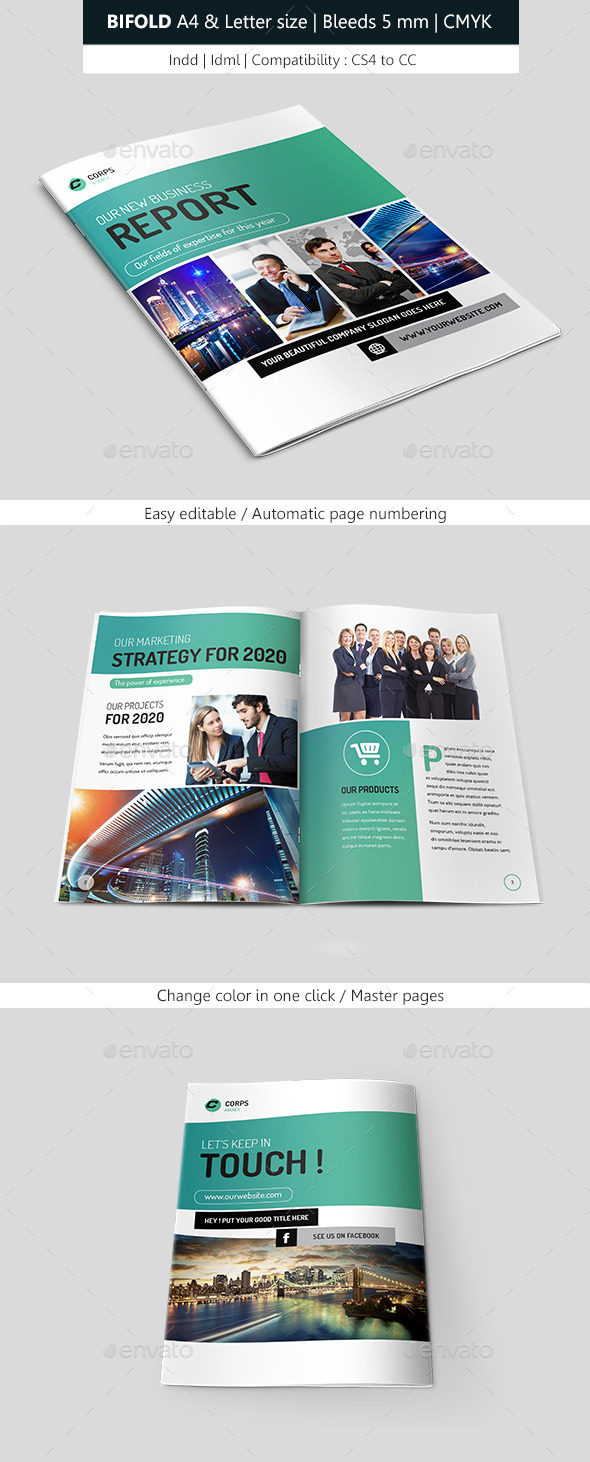 GraphicRiver Bifold Business & Corporate Brochure Indesign 8958790