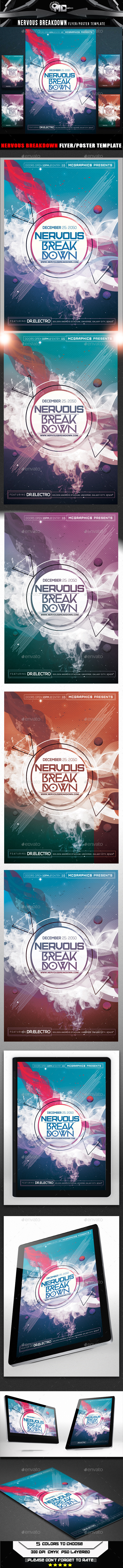 GraphicRiver Nervous Break Down Flyer Template 8958882