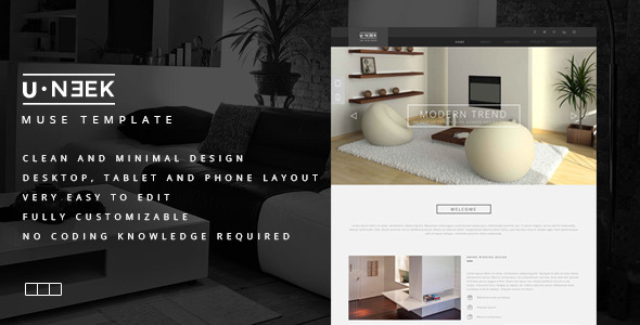 ThemeForest U Neek Muse Template 8958939