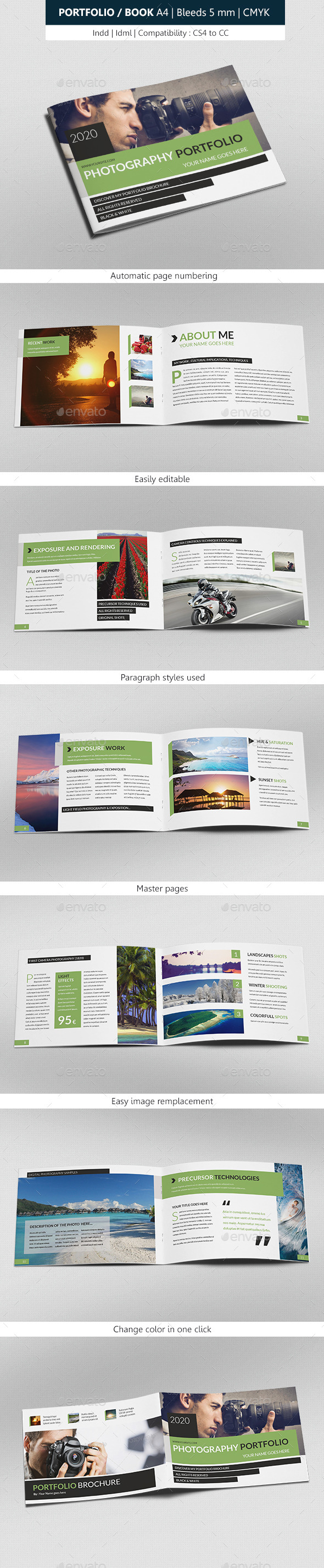 GraphicRiver Portfolio & Book Photograph Indesign Template 8958968