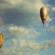 Hot Air Balloons Fly Simultaneously - VideoHive Item for Sale