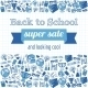 Doodle Back to School Super Sale Poster.  - GraphicRiver Item for Sale