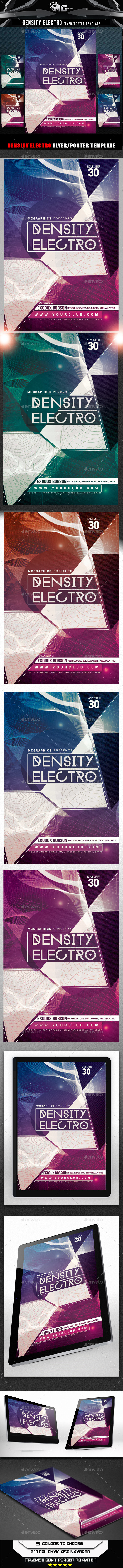 GraphicRiver Density Electro Flyer Template 8960014