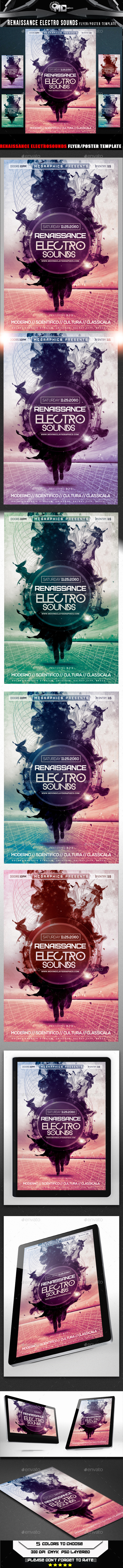 GraphicRiver Renaissance Electro Sounds Flyer Template 8960124