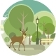 Park with Deer - GraphicRiver Item for Sale