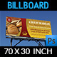 Bakery Billboard Banner Template - GraphicRiver Item for Sale