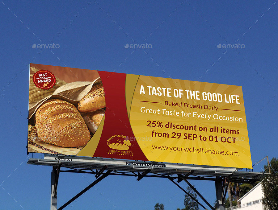 Bakery Billboard Banner Template By Owpictures Graphicriver