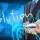 businessman hand holding solution - PhotoDune Item for Sale