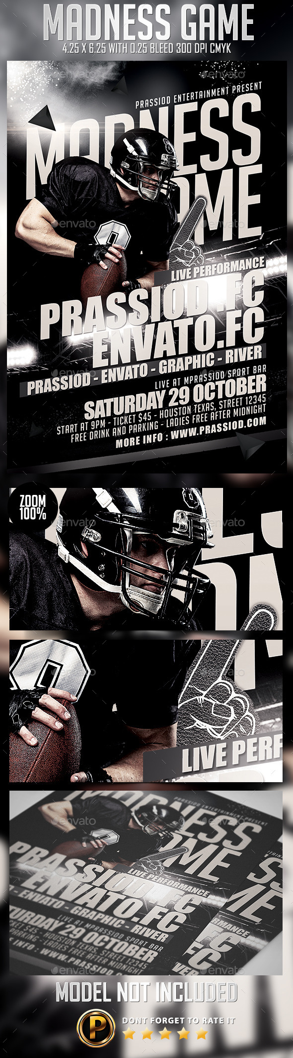 GraphicRiver Madness Game Flyer Template 8960623