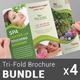 Spa & Beauty Saloon Tri-Fold Brochure Bundle | v4 - GraphicRiver Item for Sale