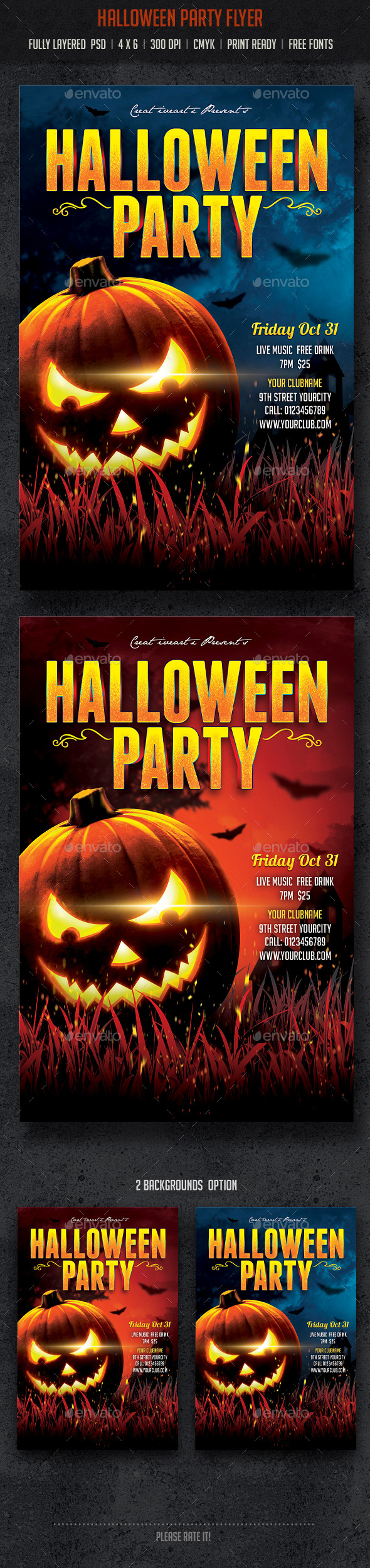 GraphicRiver Halloween Party Flyer 8960657
