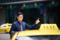 asian businessman calling taxi car leaving work - PhotoDune Item for Sale