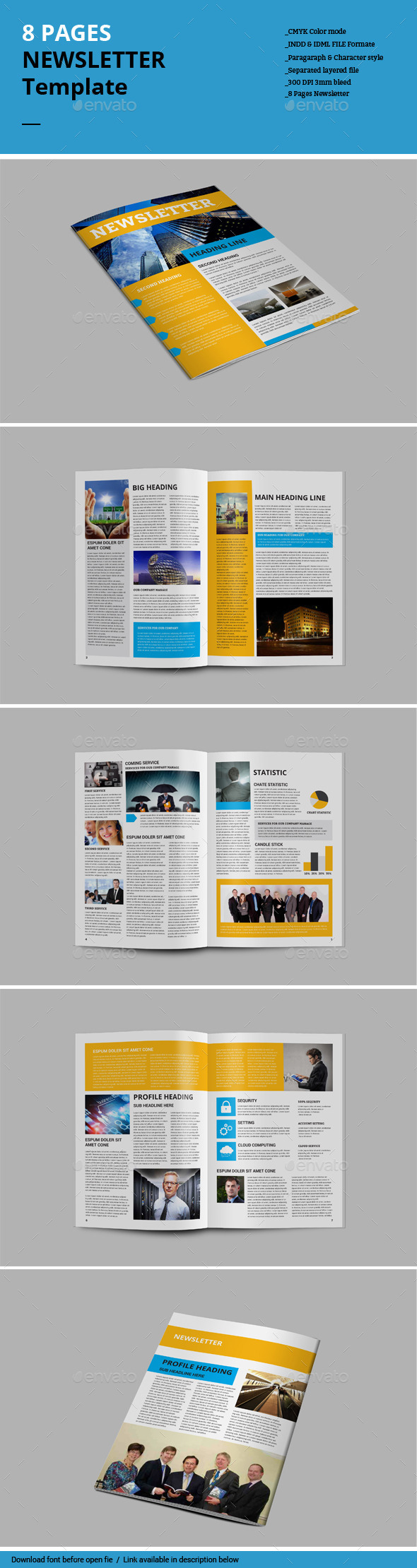 GraphicRiver 8 Pages Newsletter Template 8960712