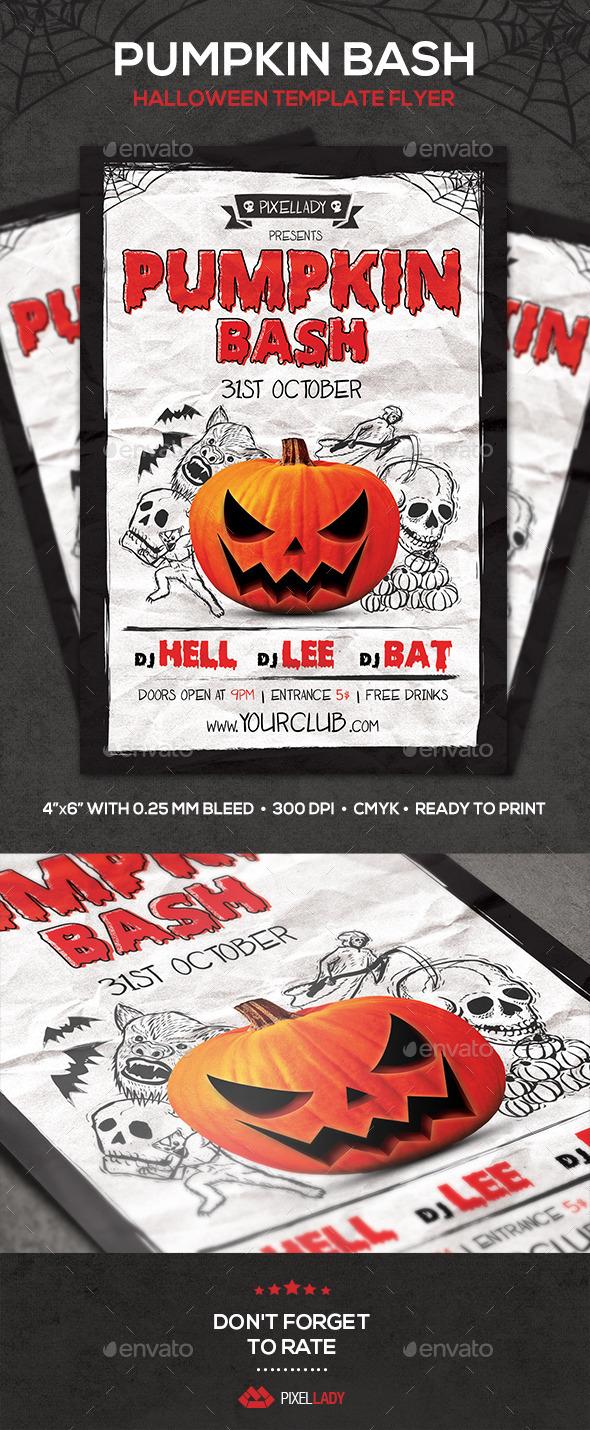 GraphicRiver Pumpkin Bash Flyer 8960809