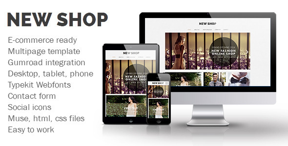 ThemeForest New Shop Muse Template 8943351
