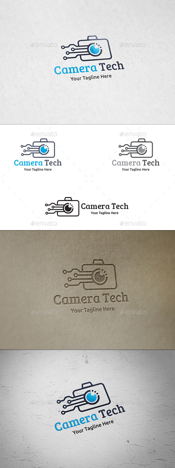 GraphicRiver Camera Tech Logo Template 8961068