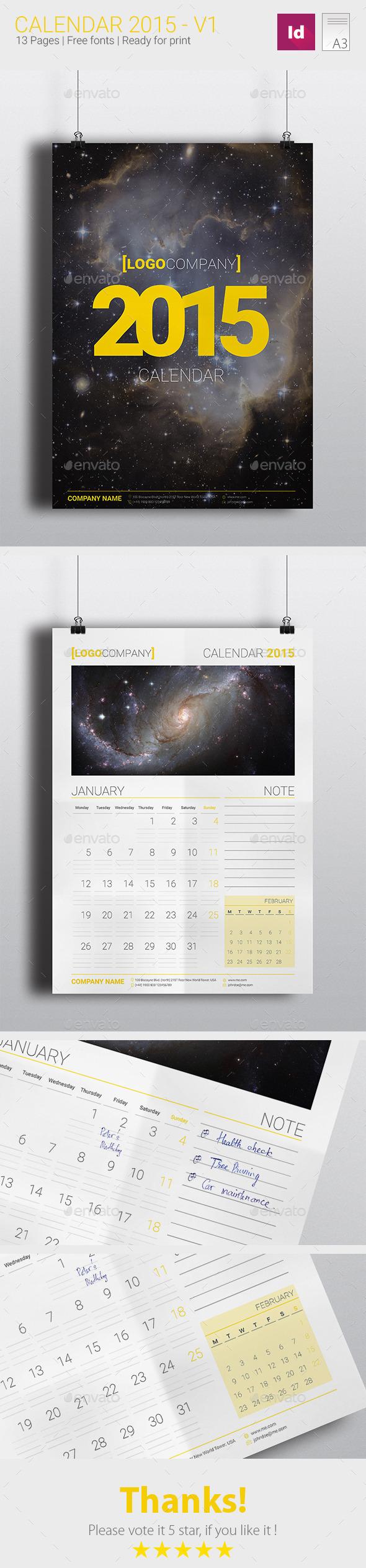 GraphicRiver Calendar 2015-V1 8961133