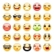 Cartoon Facial Expression Smile Icons Set - GraphicRiver Item for Sale