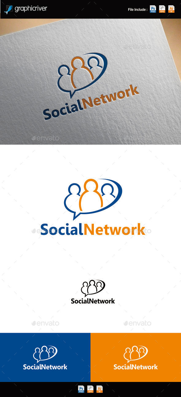 GraphicRiver Social Network Logo 8961447