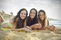 Three girls at the beach - PhotoDune Item for Sale
