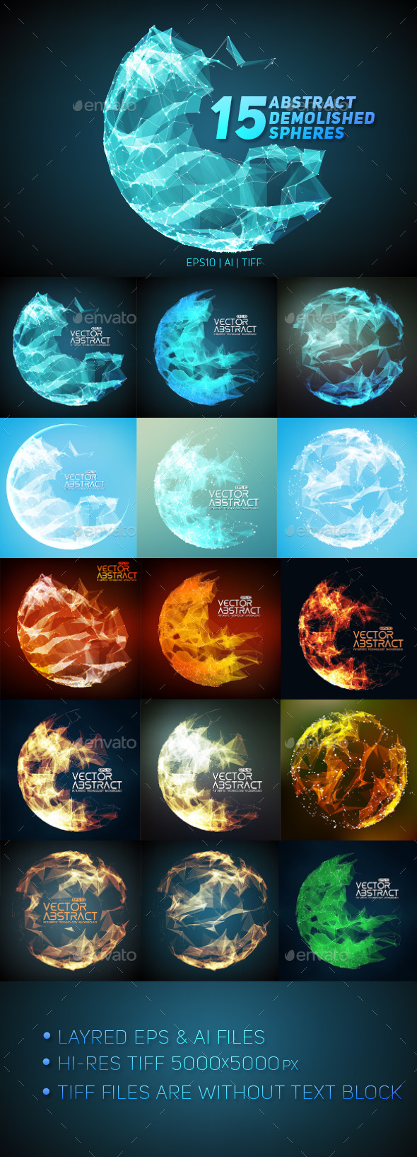 GraphicRiver 15 Abstract Demolished Spheres 8961487