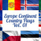 Europe Continent Country Flags Vol. 1 - VideoHive Item for Sale