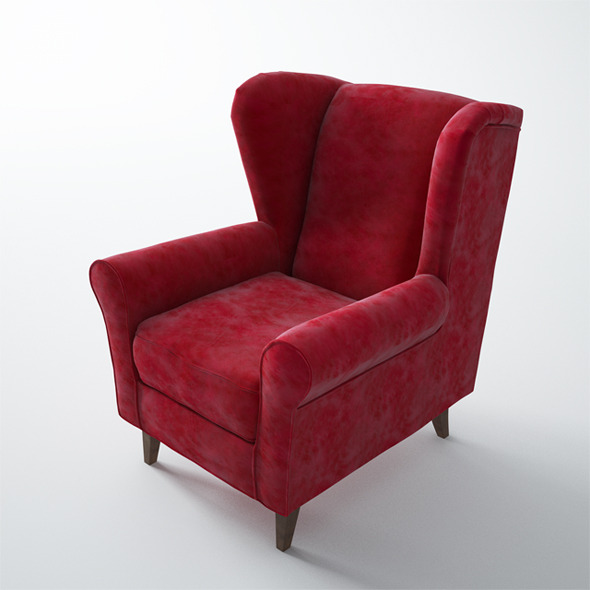 Maisons du Monde Velvet Child's Armchair - 3DOcean Item for Sale