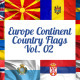 Europe Continent Country Flags Vol. 2 - VideoHive Item for Sale